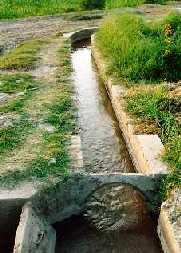 Lined watercourse