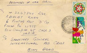 POW mail from Pak to India